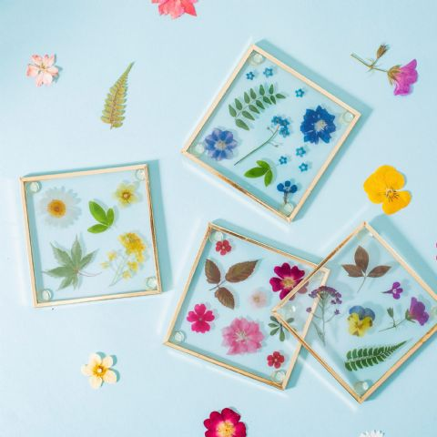 FLOWER COASTERS SET